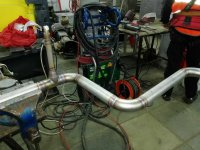 Монтаж труб из нержавейки производится нами аргонодуговой сваркой